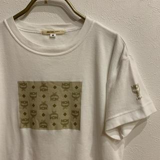 エムシーエム(MCM)の【リン様専用】ボックスロゴレディースTシャツ ホワイト Mサイズ(Tシャツ(半袖/袖なし))