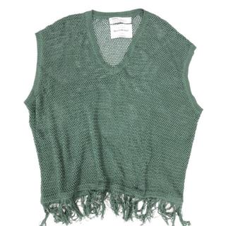 アレッジ(ALLEGE)のdairiku pullover fringe net knit vest (ニット/セーター)