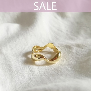 IENA - 【 SALE 】925 wave ring 1 / gold 🍒 ラスト1点