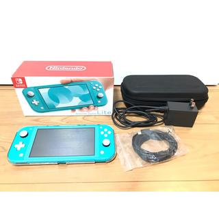 ニンテンドースイッチ(Nintendo Switch)のNintendo Switch  Lite ターコイズ 本体 ケース備品セット(家庭用ゲーム機本体)