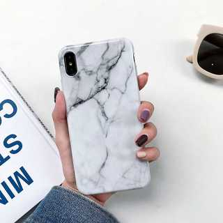 IP003 大理石 マーブル iPhoneケース ホワイト XSMax(iPhoneケース)