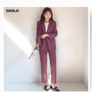 ディーホリック(dholic)の完売 人気 新作 dholic ワンボタンジャケット&スラックスSET 黒 M (スーツ)