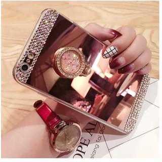 スマホカバー ピンク iPhone キラキラ ゴージャス ミラーコーティング(iPhoneケース)