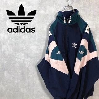 adidas - adidas US輸入 刺繍ロゴ マルチカラー スウィングトップ