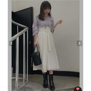 MERCURYDUO - プリーツ切り替えラップスカート