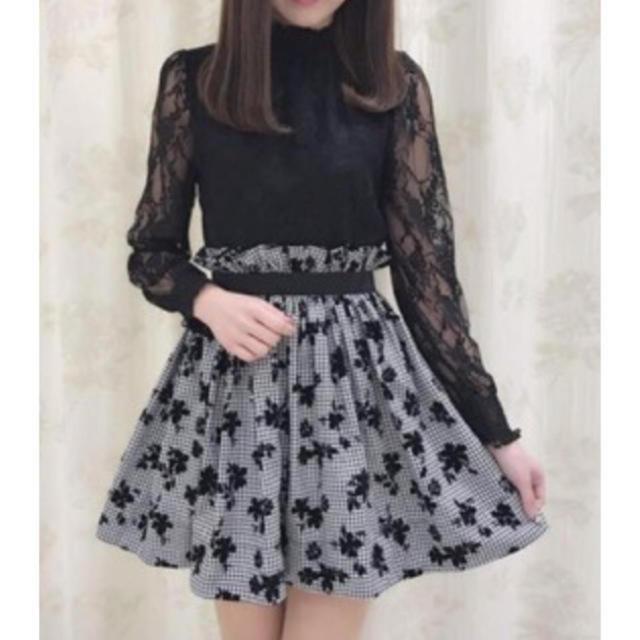 evelyn(エブリン)のギャザーフロッキースカート レディースのスカート(ミニスカート)の商品写真