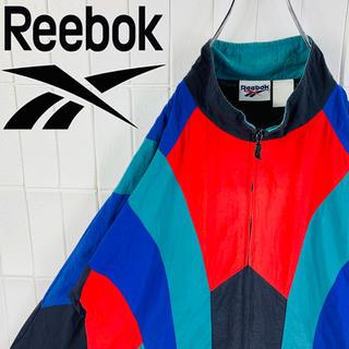 リーボック(Reebok)のリーボック レアカラー バックロゴ 旧タグ ゆるだぼ 90s ナイロン ジャージ(ナイロンジャケット)