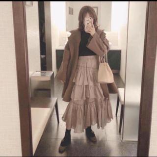 snidel - SNIDEL スナイデル シアー ティアード スカート