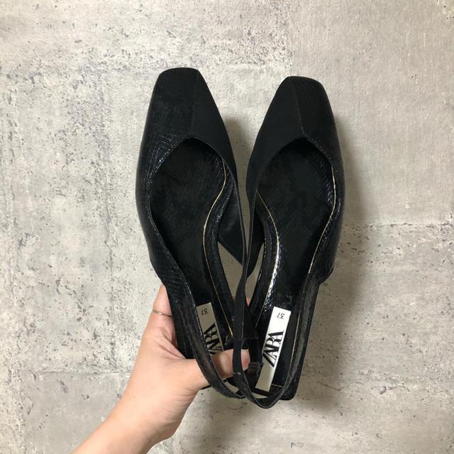 ZARA(ザラ)のZARA バレリーナシューズ パンプス レディースの靴/シューズ(バレエシューズ)の商品写真