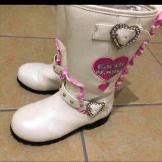 EARTHMAGIC - アースマジック ブーツ 白 19cm  靴