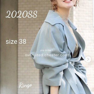 IENA - 【2020SS】アセテートコットンオーバーチェスターコート◆size 38