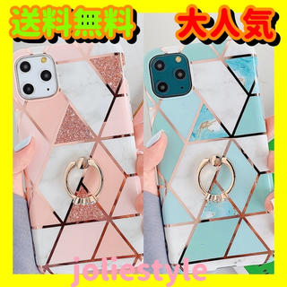 大理石風 iPhoneケース iPhone6/6S/7/8/X/Xs/XR/11(iPhoneケース)