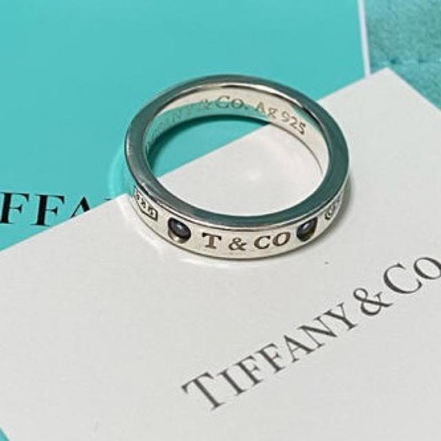 Tiffany & Co.(ティファニー)のtiffanyモンタナサファイアリング 7号 レディースのアクセサリー(リング(指輪))の商品写真