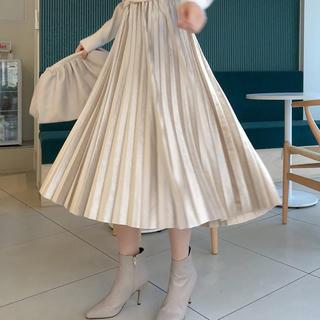 dholic - chuu / プリーツベルベットロングスカート