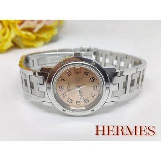 Hermes - 超美品 エルメス クリッパー デイト   純正ベルト QZ レディース腕時計