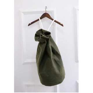 バックパック ボクサー バッグ リュック 大容量 キャンバス 男女兼用 グリーン(リュック/バックパック)