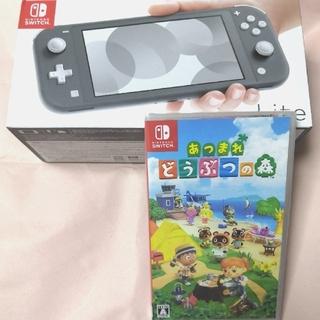 ニンテンドースイッチ(Nintendo Switch)のNintendo Switch Lite グレー&あつまれどうぶつの森 ソフト(携帯用ゲーム機本体)