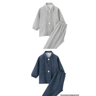 MUJI (無印良品) - 脇に縫い目のない 二重ガーゼ パジャマ(ベビー・90~100)