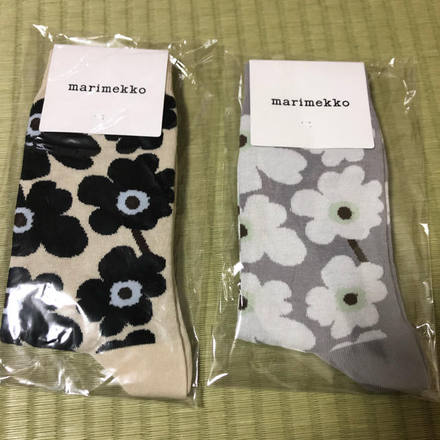 marimekko(マリメッコ)の新品 マリメッコ 34~36 22~23cm 靴下 ソックス ヒエタレディース  レディースのレッグウェア(ソックス)の商品写真