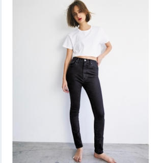 moussy - HIGH WAIST BLACK REBIRTH SKINNY JEANS