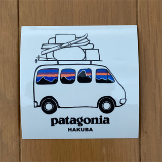 パタゴニア(patagonia)の白馬限定 パタゴニア Patagonia  ステッカー(ステッカー)