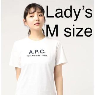 A.P.C - 日本国内正規品★レディースM★アーペーセー APC a.p.c. ロゴTシャツ