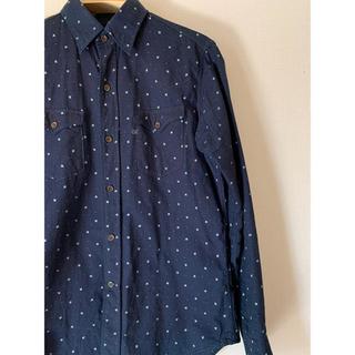 45rpm - 45rpm 藍染め 総柄シャツ