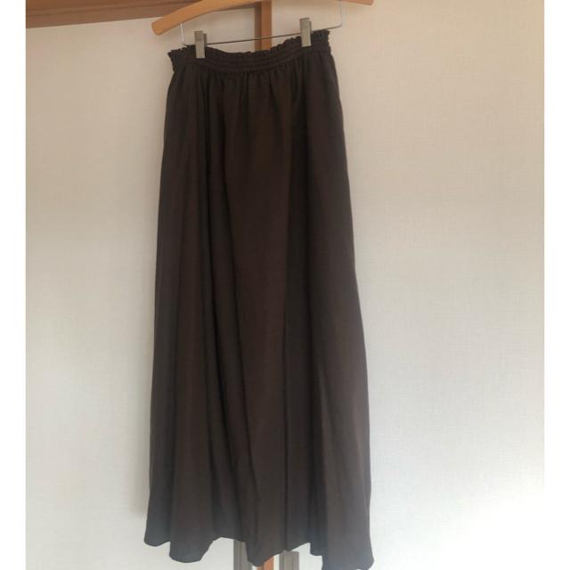 IENA SLOBE(イエナスローブ)のIENA SLOBE リネン混ギャザーロングスカート♡イエナスローブ レディースのスカート(ロングスカート)の商品写真