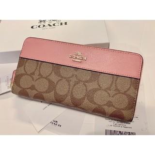 COACH - コーチ 新品 かわいいピンク シグネチャー レザー 長財布