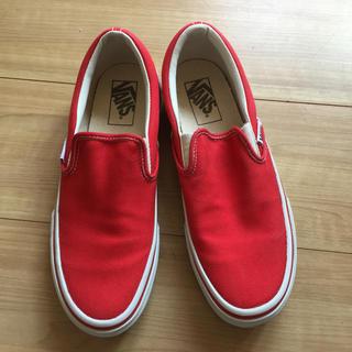 VANS - 中古美品 Vans スリップオン 赤 US6.5 約24.5cm