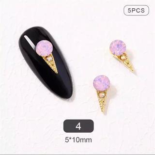ネイルパーツ アイスクリーム ピンク 5P