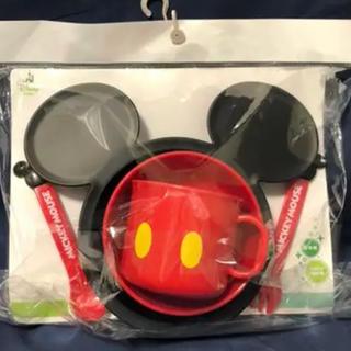 ディズニー(Disney)の【新品未使用!】ミッキー 食器セット(離乳食器セット)