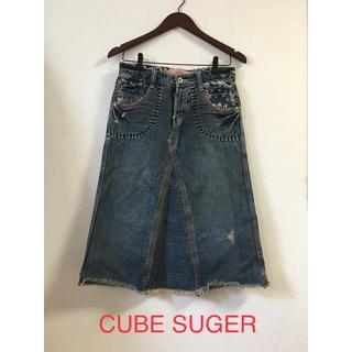キューブシュガー(CUBE SUGAR)のCUBE SUGER(ひざ丈スカート)