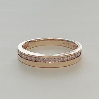 K18 ダイヤモンド リング YG エタニティ 指輪 ツツミ