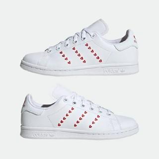 adidas - 24cm ハート スタンスミス ホワイト レッド