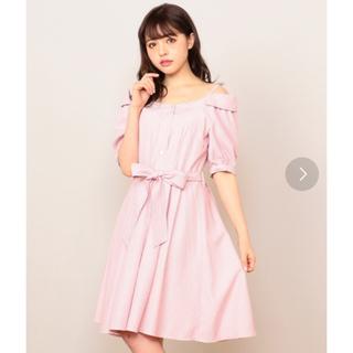 MIIA - ミーア MIIA シャツワンピース オフショル ピンク ストライプ 春夏