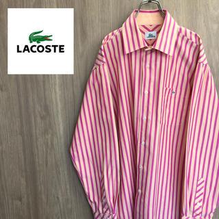 ラコステ(LACOSTE)の【激レア】LACOSTE ラコステ☆ワンポイント刺繍ロゴ ストライプシャツ(シャツ)