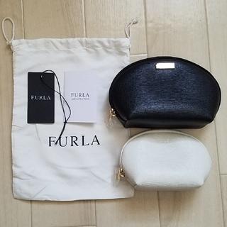 Furla - FURLA新品未使用 ポーチ ブラックホワイトアイボリー