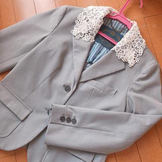 ジェーンマープル(JaneMarple)のジェーンマープル お花とレース襟のジャケット(テーラードジャケット)
