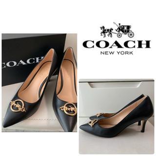 COACH - 美品 コーチ ブラックレザー  パンプス