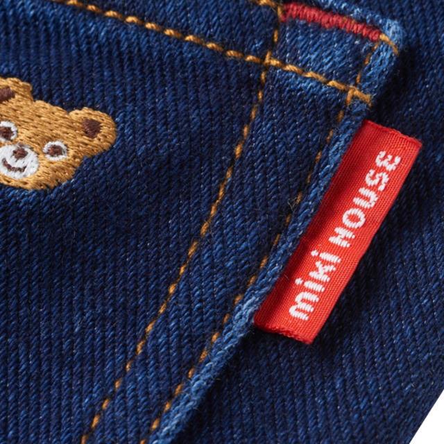mikihouse(ミキハウス)のプッチー ストレッチニットデニムパンツ インディゴ100㎝ キッズ/ベビー/マタニティのキッズ服男の子用(90cm~)(パンツ/スパッツ)の商品写真