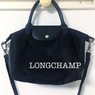 LONGCHAMP - LONGCHAMP ブラックプリアージュ ネオトートバッグ