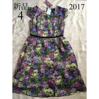 TOCCA - 新品 TOCCA フラワーボックス ドレス 4 ランドリーライン 紫