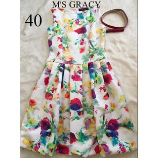 M'S GRACY - カタログ掲載品 エムズグレイシー  フラワープリントワンピース 40