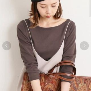 IENA - IENA AURALEE 別注ボートネックTシャツ ブラウン
