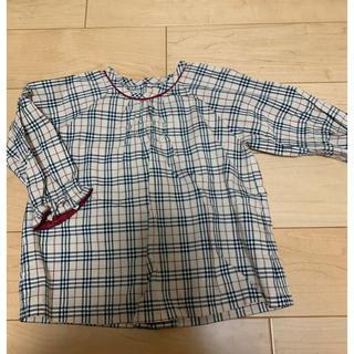 BURBERRY - 美品!バーバリー ブラウス チュニック 80センチ シャツ