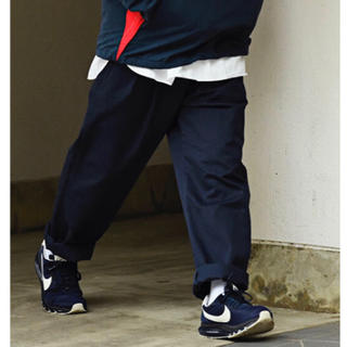 1LDK SELECT - isness イズネス WIDE CHINO PANTS サイズ40 ネイビー