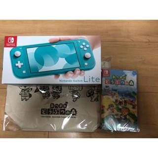 Nintendo Switch Lite ターコイズ どうぶつの森ソフトセット売