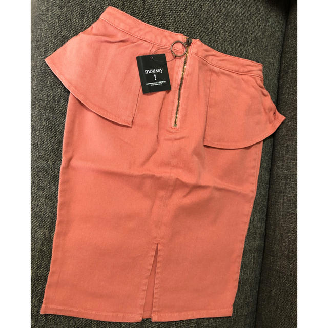 moussy(マウジー)の新品 moussy ペプラムタイトスカート レディースのスカート(ひざ丈スカート)の商品写真