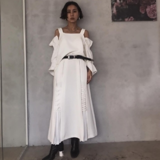 アメリヴィンテージ(Ameri VINTAGE)のAMERI  PREETS SKRTS(ロングスカート)